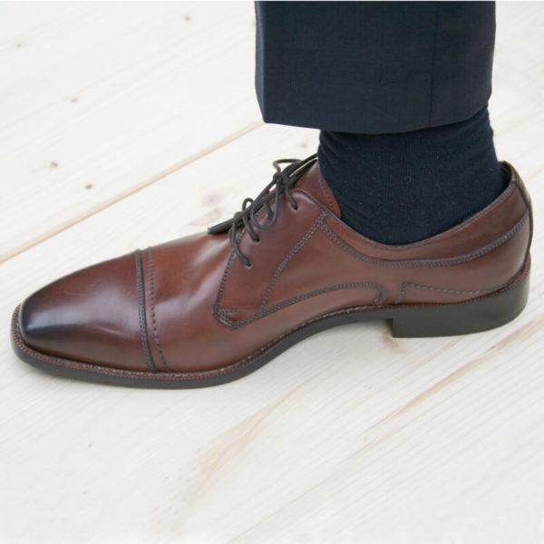 Photo-Men´s business shoes-Individual and masculine-Derby_Captoe_Cognac_1 shoe left