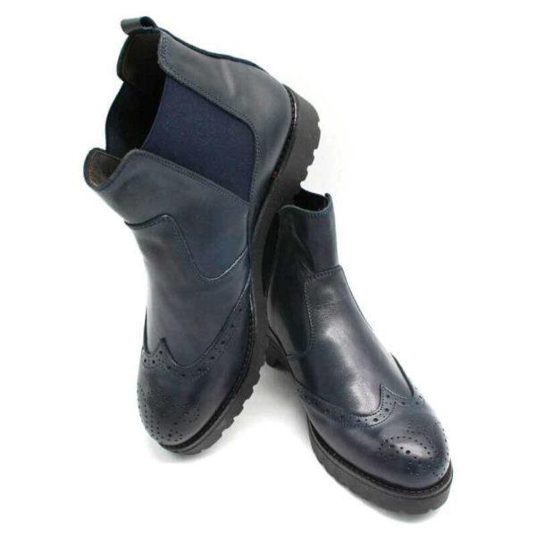 Foto Italienische Stiefeletten blau einer auf dem anderen abgestellt_Modell 650
