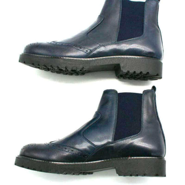 Foto Italienische Stiefeletten blau von der Seite gezeigt_Modell 650