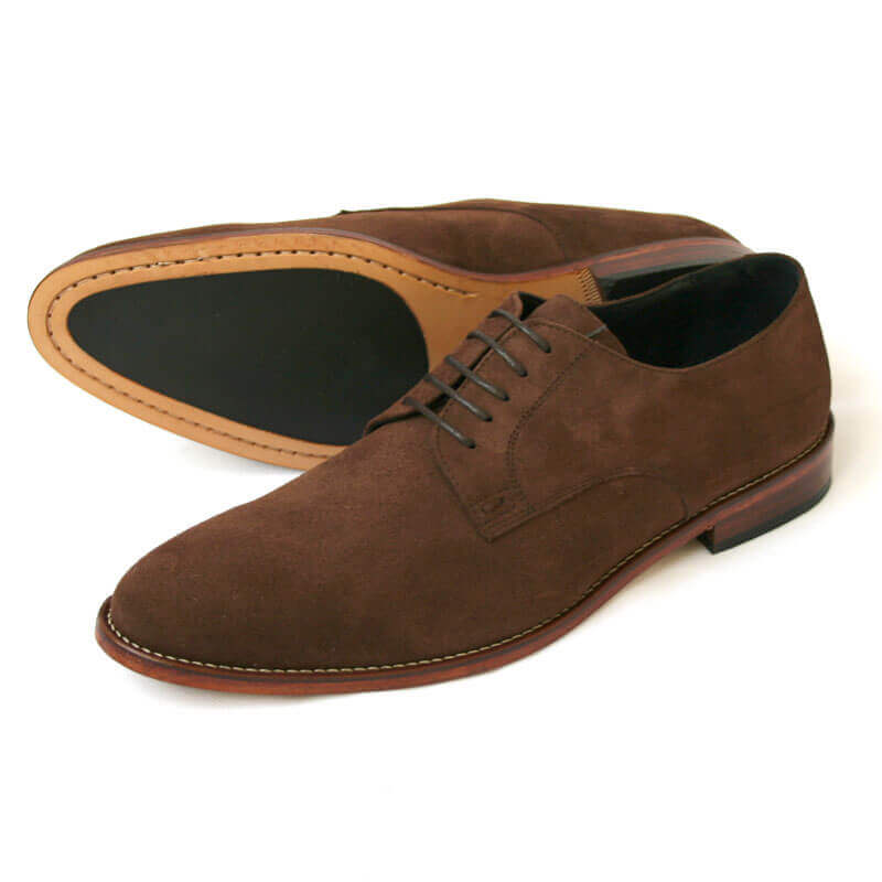 Dark brown suede shoe  3439acfff170