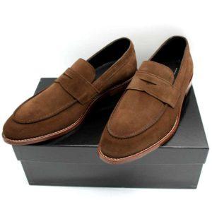 Foto zeigt Loafer braun auf schwarzem Schuhkarton_Modell 332