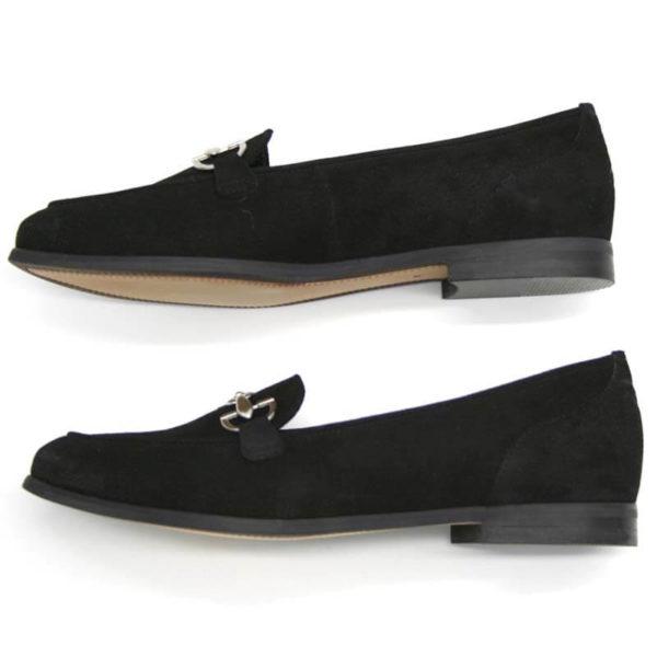 Foto 2 Loafer schwarz nach links zeigend, übereinander. Modell 516