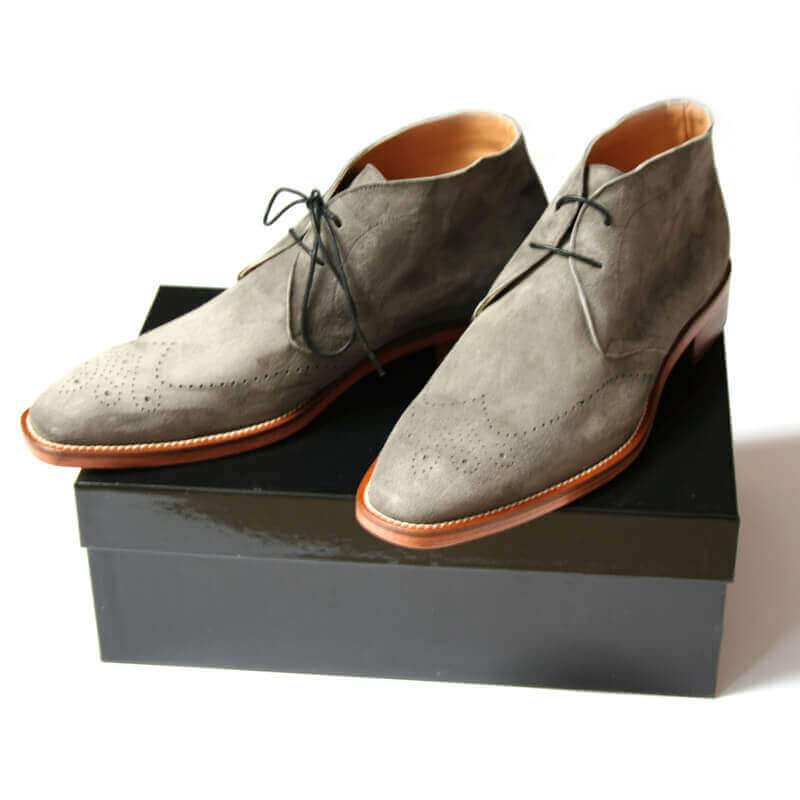Men U0026#39;s Business Casual Ankle Boots Full-grain | Gray Casual Shoes | Shoes 4 Gentlemen