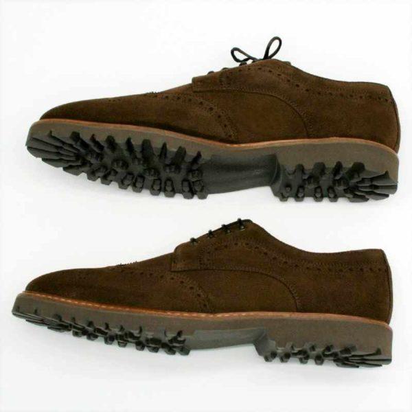 Foto von zwei Wildleder Budapester Schuhen von der Seite übereinander gezeigt_Modell 333